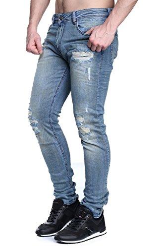 Kaporal - Jeans Ezzy E17 Worker Destroy Bleu