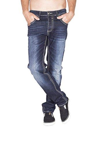 BLUE MONKEY Herren Jeans Slim Fit Freddy-4339 dark blue Blau