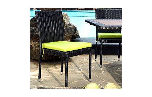 Chaise en résine tressée pour jardin et intérieur