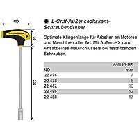 Proxxon 22 486 Destornillador para Vasos Hexagonales de Mango en L, L HEX - 12 mm