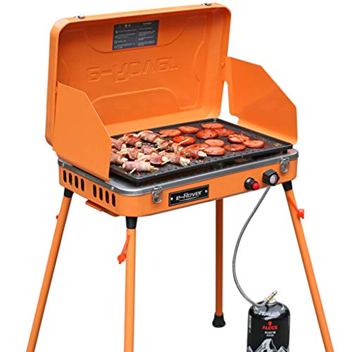 Dual Fuel Camping Herd Tragbare Propan Grill Im Freien Dual Brenner Camping BBQ/Gasgrill Desktop Dampfgrill