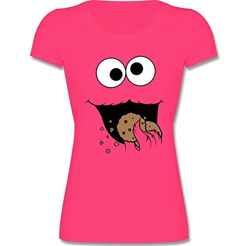 Kinder - Keks-Monster - 128 (7-8 Jahre) - Fuchsia - F288K - Mädchen T-Shirt (Gruppe Kostüme Für 8)