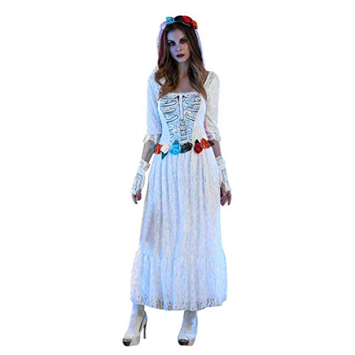 Heißer TIFY Halloween Damen Party Braut Langes Kleid -