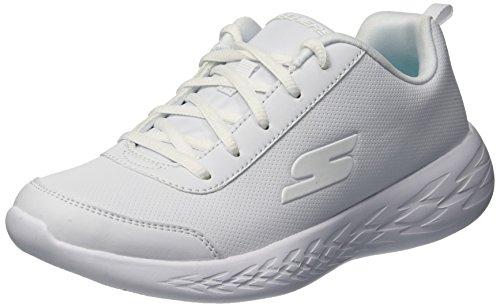 Skechers Mädchen Go Run 600-recess Chic Sneaker, Weiß (White Wht), 29 EU (Für Uniform-schuhe Mädchen)
