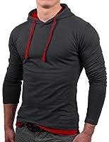 Bents & Mood Slim Fit Hoodie Kapuzenpullover Sweatshirt Hemd Jacke, BM01