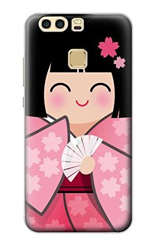 Japan Girl Hina Doll Kimono Sakura Hülle Schutzhülle Taschen für Huawei P9 - Kimono Doll