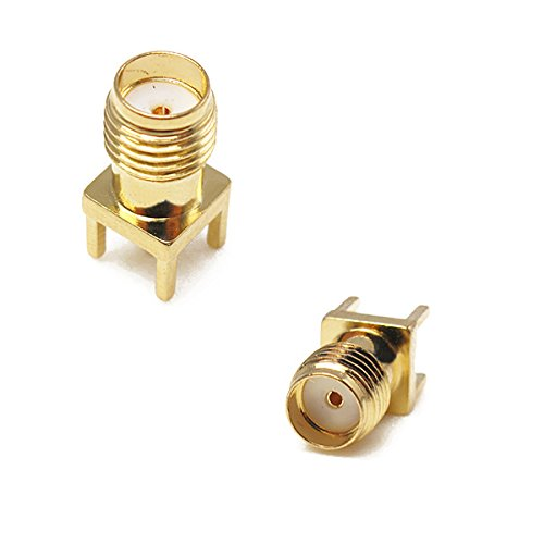 KINGDUO 10Pcs SMA Weibliche Adapter Kante-Mount Lötrf Connector