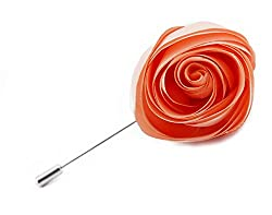 DeePerfetto peach rose lapel pin