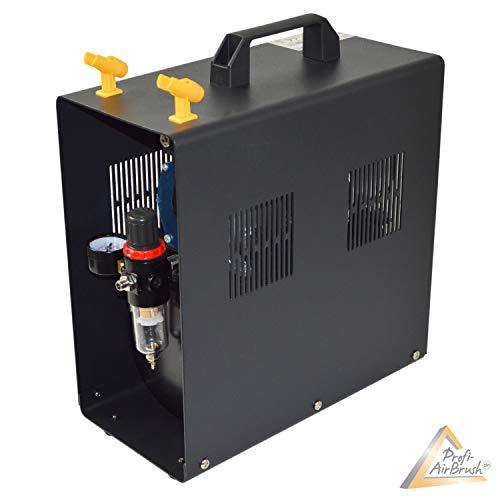 Profi-AirBrush Kompressor Universal II-C mit Start/Stop-Automatik, mit Schutzgehäuse LEISE und ENERGIESPAREND! Das OPTIMALE Standard-Gerät für alle Profis und Beginner LIMITIERTES SONDERANGEBOT