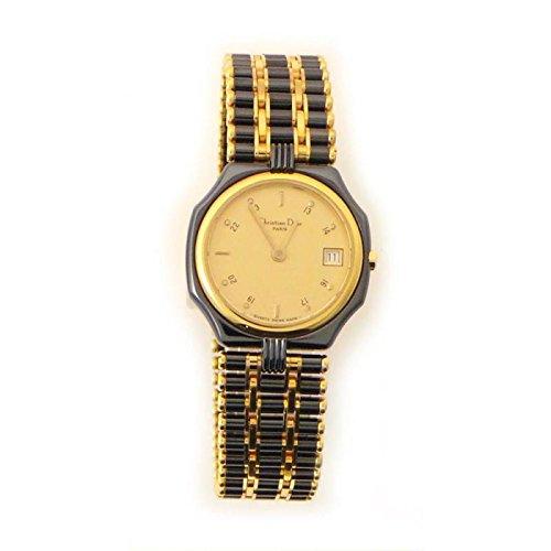 Orologio Christian Dior Donna 48.25.01 Al quarzo (batteria) Titanio Quandrante Oro giallo Cinturino Titanio