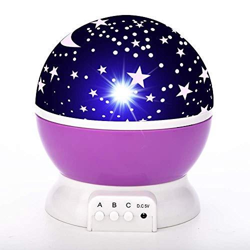 LED proyector estrella luna noche cielo rotativo luz