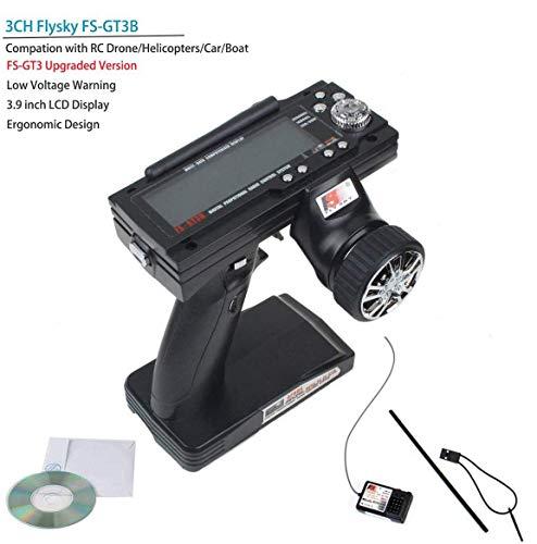 Tamlltide Flysky FS GT3B Fernsteuerung 3 Kanal 2.4GHz AFHDS RC Sender Transmitter mit Flysky GR3E RC Empfänger for RC Auto Boot