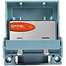 Amplificador tv para antena logaritmica UHF/VHF 33dB ancha banda 12/15V OFFEL Mod. 23155