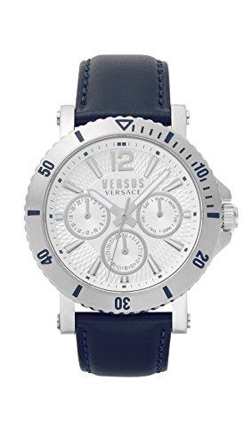 Versus by Versace Homme Analogique Quartz Montre avec Bracelet en Cuir VSP520118