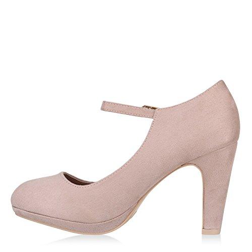 Stiefelparadies Scarpe Chiuse Donna Crema