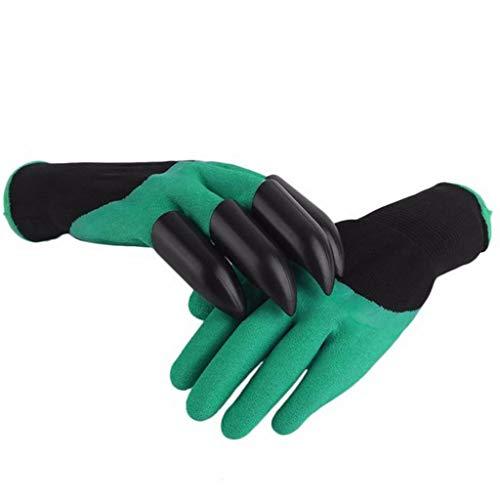 SUP-MANg-Arbeitshandschuhe Handschuhe Aushubschutzklauen Pflanzen Verschleißfeste Handschuhe Haben Eingebaute Klauen Die Handschuhe Enthalten Handschuhe Mit 4 ABS-Kunststoffklauen (1 Paar)