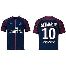 Camiseta para niños del Paris Saint-Germain, 2017-2018 (primera equipación)-Neymar Jr 10, Draxler 23