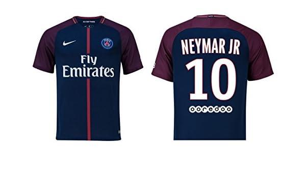 54dffe7e4 Paris Saint Germain 2017 2018 Home Neymar Jr 10 Men s Football Shirt   Amazon.co.uk  Sports   Outdoors