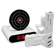 Dieser lustige Gadget Wecker spielt Ihre zuvor aufgenommene Sprach-Nachricht ab - bis Sie die Zielscheibe mit der Infrarot Pistole getroffen haben! Der wohl witzigstse Digitalwecker der Geschichte!