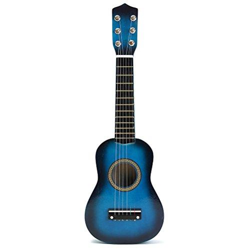 toymytoy 53,3cm Akustik Kinder Gitarre Tragbare Kleine Größe Gitarre aus Holz für Kinder Kinder Anfänger (blau)