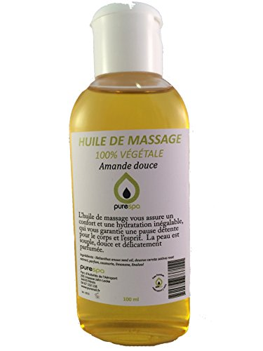 Huile de massage végétale parfumée à l' AMANDE DOUCE -100ml- OFFRE DECOUVERTE
