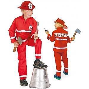 Kostüm Clevere Kinder - FASCHING 11302 Kinder- Kostüm Feuerwehrmann, 2tlg., Feuerwehr: Größe: 098