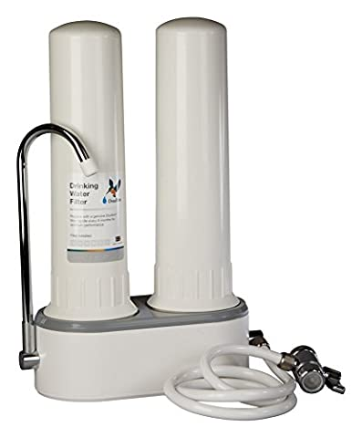 Doulton HCP Double Countertop Drinking Water Filter Housing ¦ No Water Filter Cartridge Candles are included ¦ Easy Tap fit ¦ 10 inch ¦ BSP thread ¦ W9380003