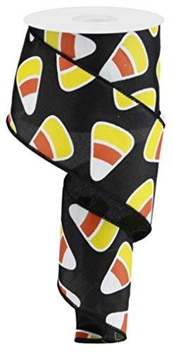 6,3cm Candy Corn Satinband: schwarz (10Meter) Expressions Halloween Draht Rand Band rg0172302