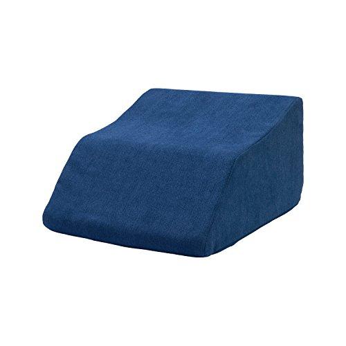 Venenkissen, Venenkeil, Lagerungskissen, Beinhochlagerung – ergonomisch, orthopädisch unterstützende Form – bei schweren, geschwollenen Beinen, Wassereinlagerungen, Venenproblemen - tempracellvital (2 = 50 x 45 x 30 cm, blau)