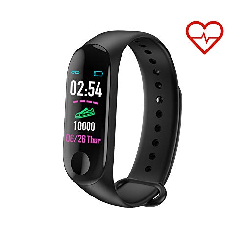 MATEYOU Fitness Tracker Smart Watch Activity Tracker, cardiofrequenzimetro, monitoraggio del Sonno, contapassi, Distanza, Calorie, Touch Screen, per Bambini, Uomini e Donne