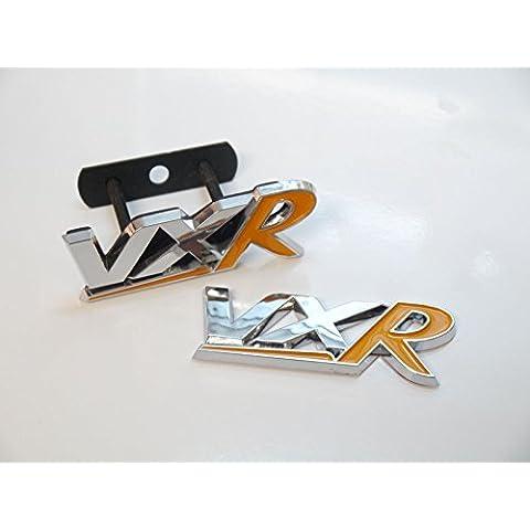 Grill cromato e giallo VXR Badge Emblem portellone posteriore di Vauxhall Opel Corsa Astra Rear Boot - Grill Panno