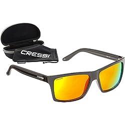 Cressi Rio Sunglasses Gafas de Sol, Unisex Adultos, Negro/Amarillo, Talla única