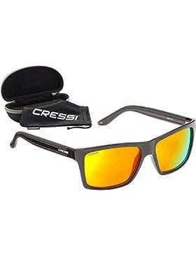 Cressi Rio - Gafas de Sol, Unisex, Adulto, Negro/Amarillo, Talla Única