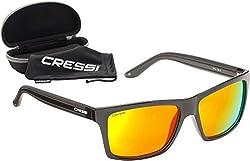 Cressi Unisex-Erwachsener Rio Sunglasses Sport Sonnenbrille Linsen Polarisiert und Antireflexion Sorgen für 100% igen Schutz vor UV-Strahlen, Schwarz Gelb, Einheitsgröße