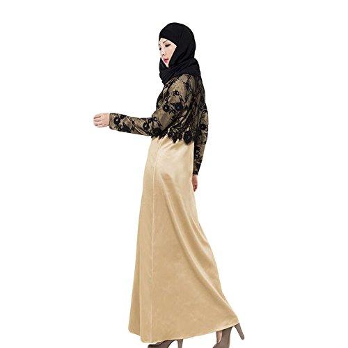 Haodasi Mode Muslim Langes Kleid Islamic Abaya Turkish Ladies Damen Bekleidung Khaki