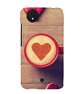 PrintVisa Coffee Heart Pattern 3D Hard Polycarbonate Designer Back Case Cover for Micromax Canvas Android A1 AQ4501 :: Micromax Canvas Android A1