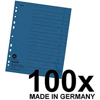 100 Stück blau Esselte Trennstreifen Karton