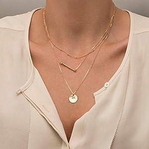 XUHAHAXL Halskette/Zubehör, Antik, Mosaik, Metallrohr, Pailletten, Multi Halskette Halskette, Kurze Halskette