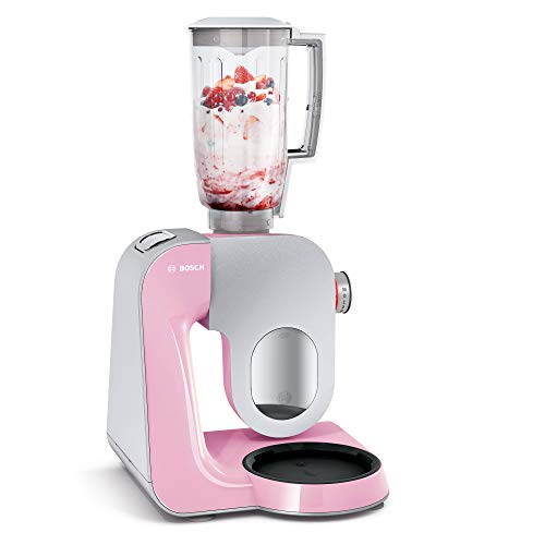 Bosch MUM58K20 food processor - food processors (Grey, Pink, Stainless steel, Stainless steel, Mixing, 50/60 Hz, PE)