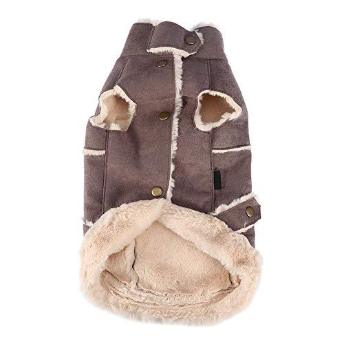 Lustige Hundekostüm - Einfach Haustier Hund Kostüm-Welpen warme Kleidung hohe Kragen-Hundeausstattung Kaffee (Farbe : Brown, Größe : M)