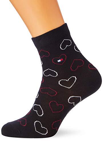 Tommy Hilfiger Damen Freizeitsocken TH Women Sock Promo AW18 3P, 3er Pack, Noir (Black 200), Herstellergröße: 39/42