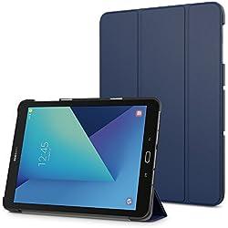 MoKo Etui Galaxy Tab S3 9.7 - Coque étui à Rabat avec Support Ultra-Mince et Léger Case Cover pour Tablette Samsung Galaxy Tab S3 9.7 Pouces Android 7.0 2017 Tablette (SM-T820 / T825), Indigo