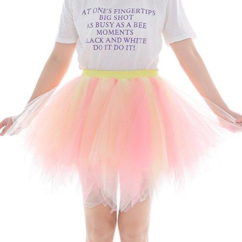 ock 1950er Rockabilly Petticoat Tutu Unterrock für Rockabilly Kleid Kurz Ballett Tanzkleid Ballkleid Abendkleid Gelegenheit Zubehör Karneval Underskirt Unterkleid Cosplay Crinoline ()