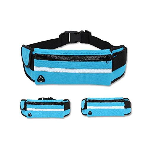 Reefa Laufband Gürtel Taille Pack Multifunktionale wasserdichte unsichtbare Taschen verstellbare Lauftasche für alle Arten von Handys Grün