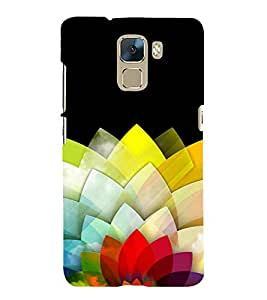 Fuson Premium Back Case Cover Colourful Petals With Multi Background Degined For Huawei Honor 7