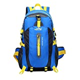 Waterproof Unisex Outdoor Sports Backpack Rucksack Camping Backpack Travel Trekking Bag 40L - blue, 30*52*20cm
