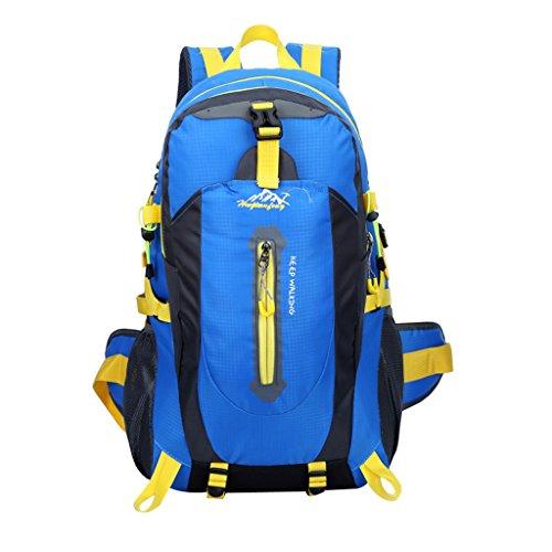 Wasserdicht Trekkingsack 40L, geeignet für Reisen, Wandern, Trekking, Bergsteigen, Klettern, Radfahren, Camping Blau
