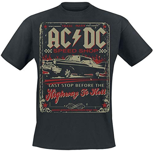 AC DC Highway To Hell - Speed Shop Camiseta Negro M 357cade11500f
