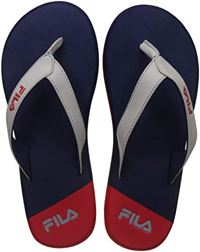 Fila Men's Coast Pea/Lt Gry/CHN Rd Flip Flops Thong Sandals-10 UK/India (44 EU)(11006380)