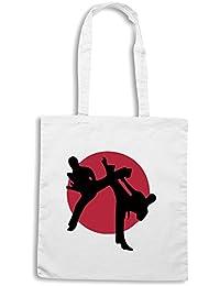 T-Shirtshock - Bolsa para la compra TBOXE0028 Martial arts Karate Kick Boxing Judo Taekwondo